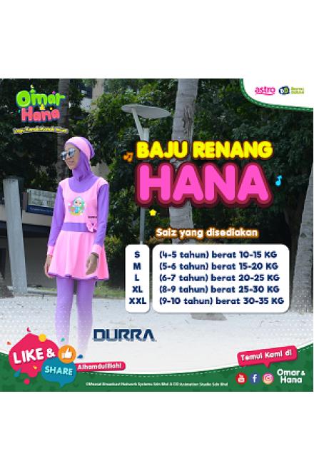 Baju Renang Anak - HNK - 001 Baju Renang Anak Muslimah Omar Hana with Swimsuit Beg