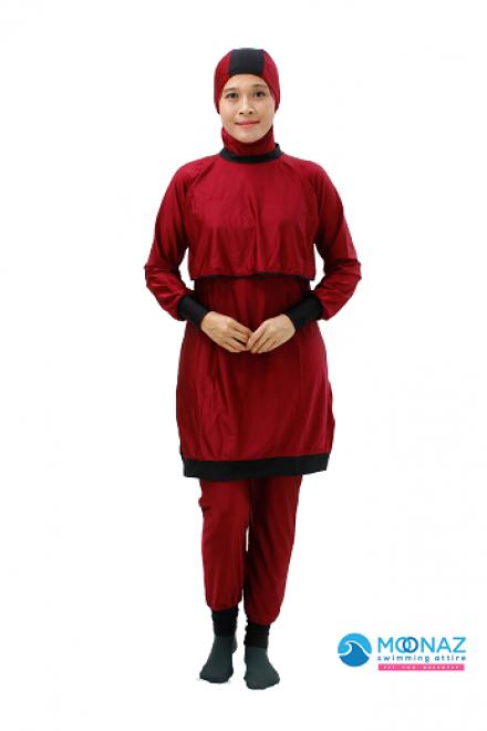 Baju Renang Muslimah - BA 005 ( Maroon Pink)