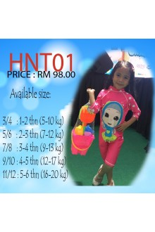 Baju Renang Anak HNT-001 - Kids Swimwear Character Hana Toddler with swimsuit bag