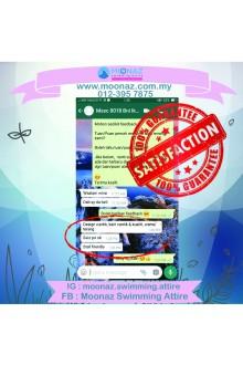 Testimoni customer Moonaz Swimming Baju Renang Muslimah 2018-11
