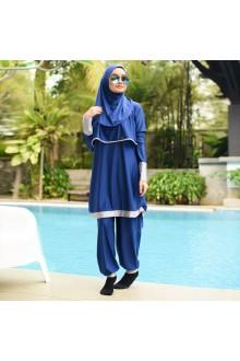 Baju Renang Muslimah - BA 001 ( Blue Gray)