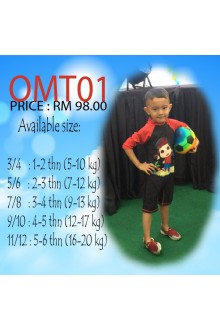 Baju Renang Anak OMT01 - Kids Swimwear Character Omar Toddler with swimsuit bag