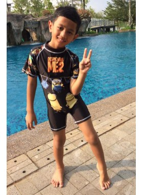 Kids Swimwear 1P-MN (Black Minion)