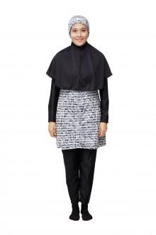 Baju Renang Muslimah - SBDP 231 (Grey Black)