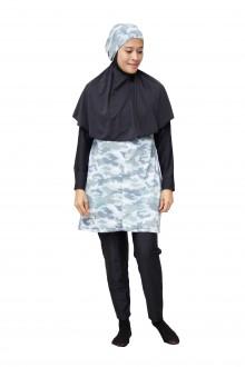 Baju Renang Muslimah - SBDP 234 (Camo Black)