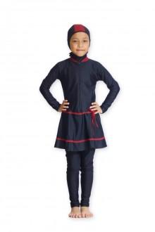 Kids Muslimah Swimwear - BK 007 (Plain Black Pink)