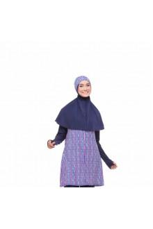 Baju Renang Muslimah - SB 203 (Corak Purple )