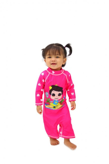 Baju Renang Anak HNT-04 - Kids Swimwear Character Hana Toddler with swimsuit bag