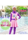 Baju Renang Anak - HNK - 02 Baju Renang Anak Muslimah Omar Hana (Y.E.S SALE not include swimsuit bag)