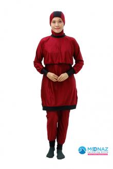 Baju Renang Muslimah - BA 005 ( Maroon Pink) -OUT OF STOCK-