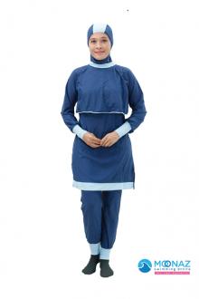 Baju Renang Muslimah - BA 004 ( Plain Blue)