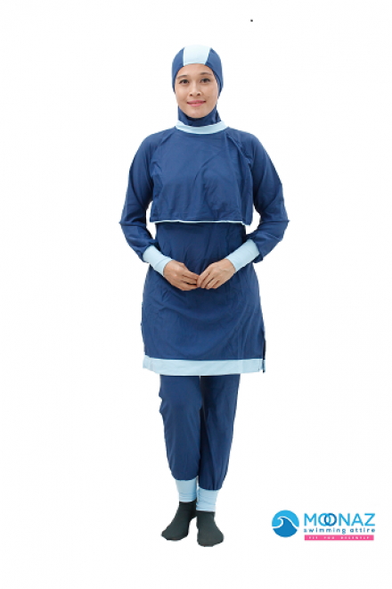Baju Renang Muslimah - BA 003 ( Blue Gray)