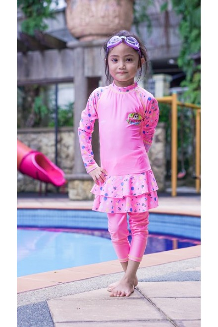 Baju Renang Anak HNT-07 - Kids Swimwear Character Hana 2 piece with swimsuit bag