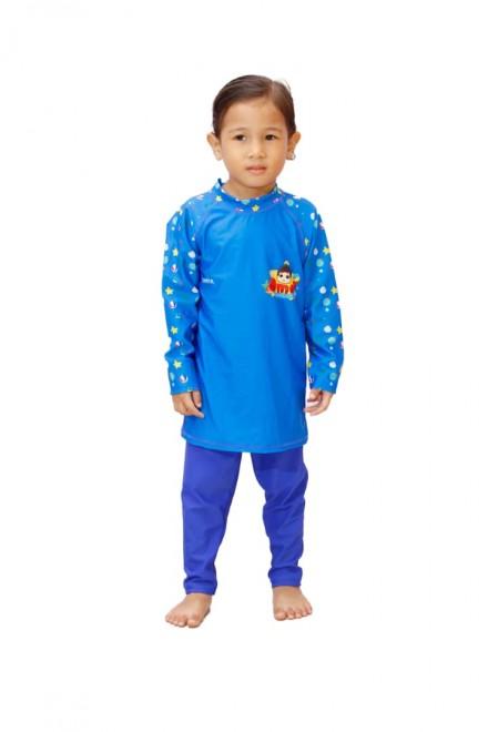 Baju Renang Anak - OMT-07 Baju Renang Muslim Omar 2 Piece with swimsuit bag