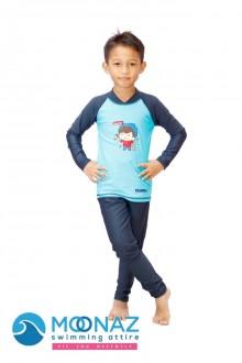 Baju Renang Anak - OMK-05 Baju Renang Muslim Omar Hana with swimsuit bag