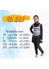 Baju Renang Anak - BK 403 Baju Renang (Corak trible )