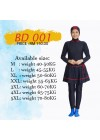 Baju Renang Muslimah - BD 001 (Plain Meroon)