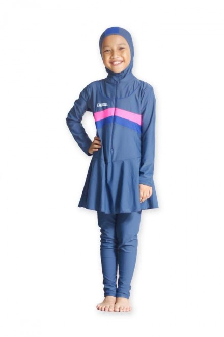 Baju Renang Anak - BK 202 Baju Renang (Plain Blue)