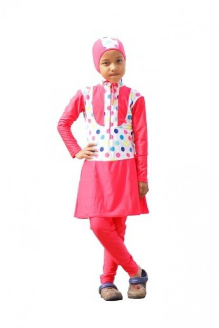Baju Renang Anak -ZPK CL Baju Renang ( Plain polkadot)