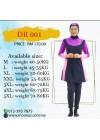 Baju Renang Slimfit - DR 001 (Plain Pink Purple)