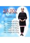 Baju Renang Muslimah - BA 002 ( Black Pink)