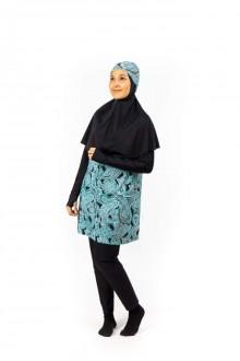 Baju Renang Muslimah - SB 506  (Black Green) -