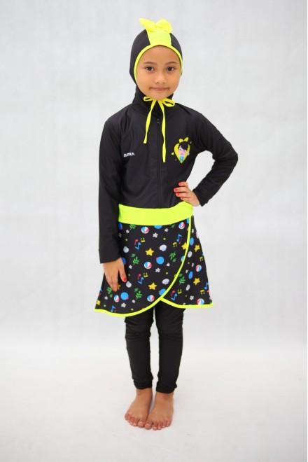 Baju Renang Anak - HNK - 08 Baju Renang Anak Muslimah Omar Hana with Swimsuit Beg