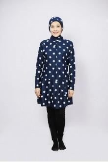 Baju Renang Muslimah - BD 209 (star dark blue)