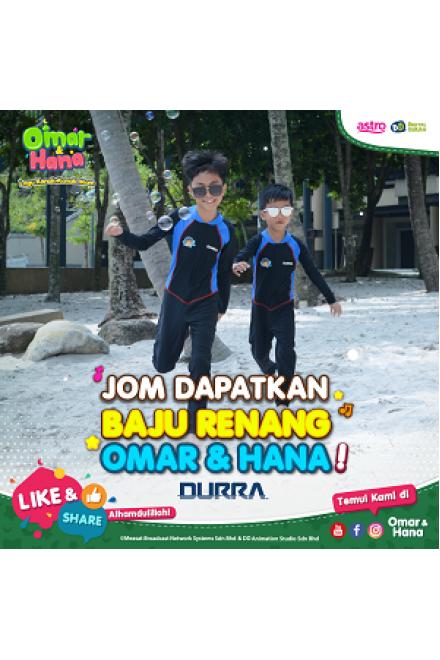 Baju Renang Anak - OMK-001 Baju Renang Muslim Omar Hana with swimsuit bag