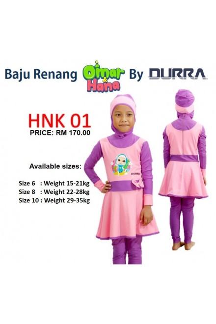 Baju Renang Anak - 2PK LV Baju Renang (Plain love green )