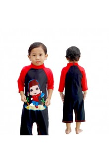 Baju Renang Anak OMT01 - Kids Swimwear Character Omar Toddler( include swimsuit bag Omarhana)