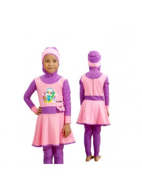 Baju Renang Anak - HNK - 002 Baju Renang Anak Muslimah Omar Hana with Swimsuit Beg