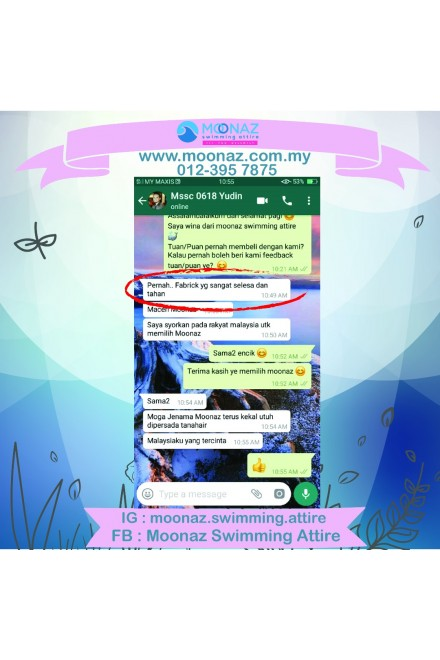 Testimoni customer Moonaz Swimming Baju Renang Muslimah 2018-26