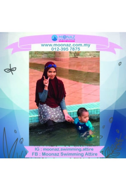 Testimoni customer Moonaz Swimming Baju Renang Muslimah 2018-19