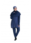 Baju Renang Muslimah - SB 513 (STAR DARK BLUE)