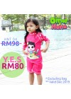 Baju Renang Anak HNT-04 - Kids Swimwear Character Hana Toddler (Y.E.S SALE not include swimsuit bag)