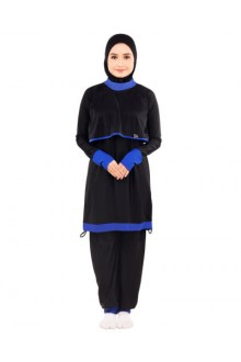 Baju Renang Muslimah - BA 001 ( Black Blue) -OUT OF STOCK-