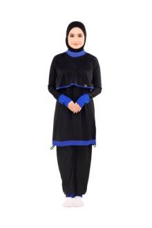 Baju Renang Muslimah - BA 001 ( Black Blue)