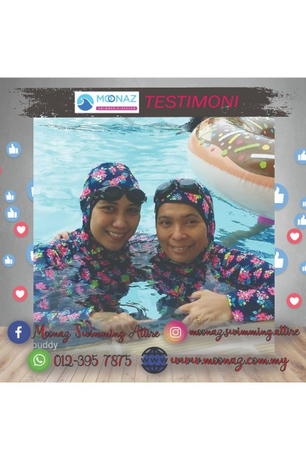 Testimoni customer Moonaz Swimming Baju Renang Cutting Slimfit Cod BD 2019-1