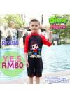 Baju Renang Anak OMT01 - Kids Swimwear Character Omar Toddler( include swimsuit bag Omarhana)