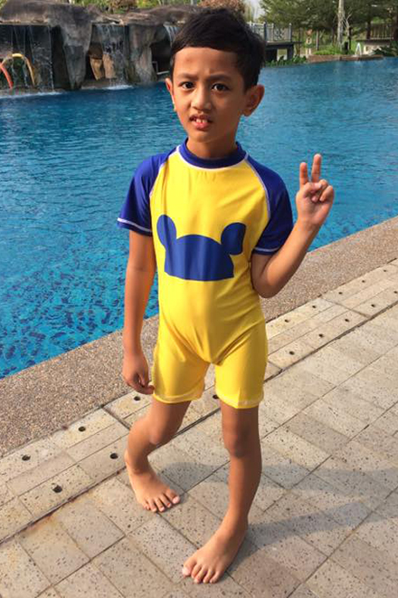 Kids Swimwear 1P-MM (Yellow Mickey)-OUT OF STOCK-