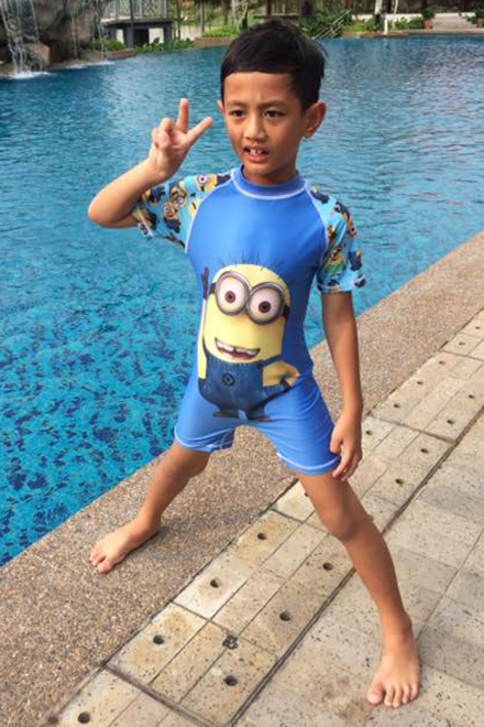 Kids Swimwear 1P-MN (Blue Minion)