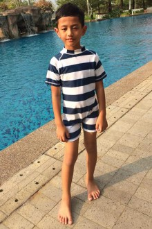 Kids Swimwear 1P-SR (Stripes)-OUT OF STOCK-