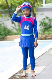 Kids Muslimah Swimsuit FB001 (Dark Blue)-OUT OF STOCK-