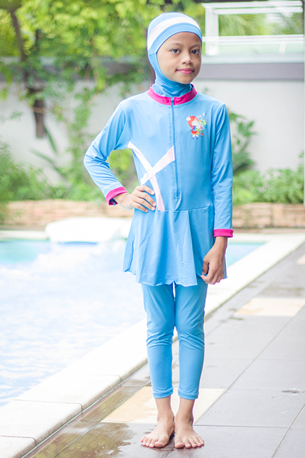 Baju Renang Anak - FG001 (Light Blue) -OUT OF STOCK-