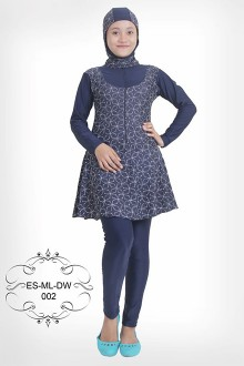 Muslimah Simsuit BD-002 (Black Abstract)-OUT OF STOCK-