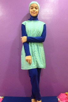 Baju Renang Muslimah - SBDP 001 (Blue Turquise)-OUT OF STOCK-