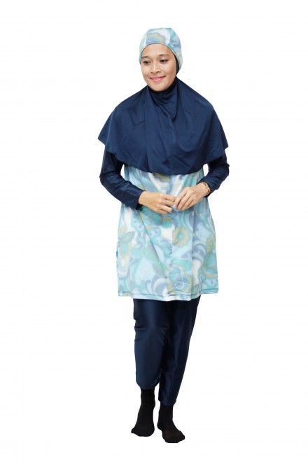 Baju Renang Muslimah - SBDP 348 (Blue Turquise)-OUT OF STOCK-